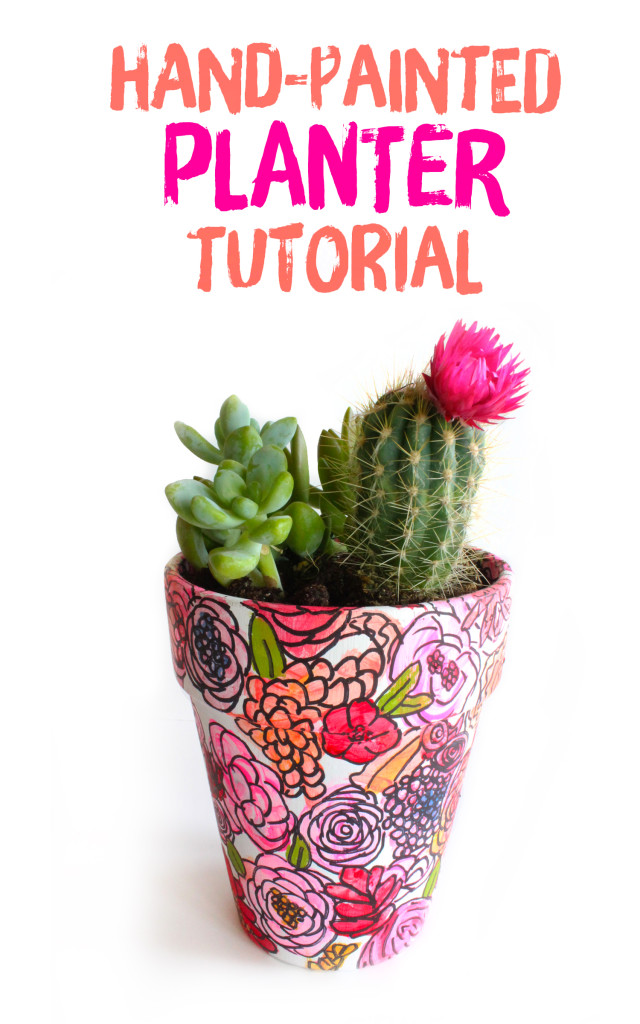 Hand-Painted Planter   Style & Spice