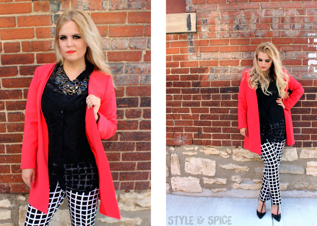 Black, white and red outfit at Style and Spice blog