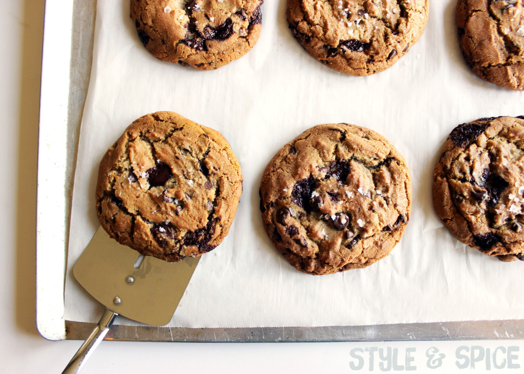 Chocolate Chunk Brown Butter Cookies | Style & Spice