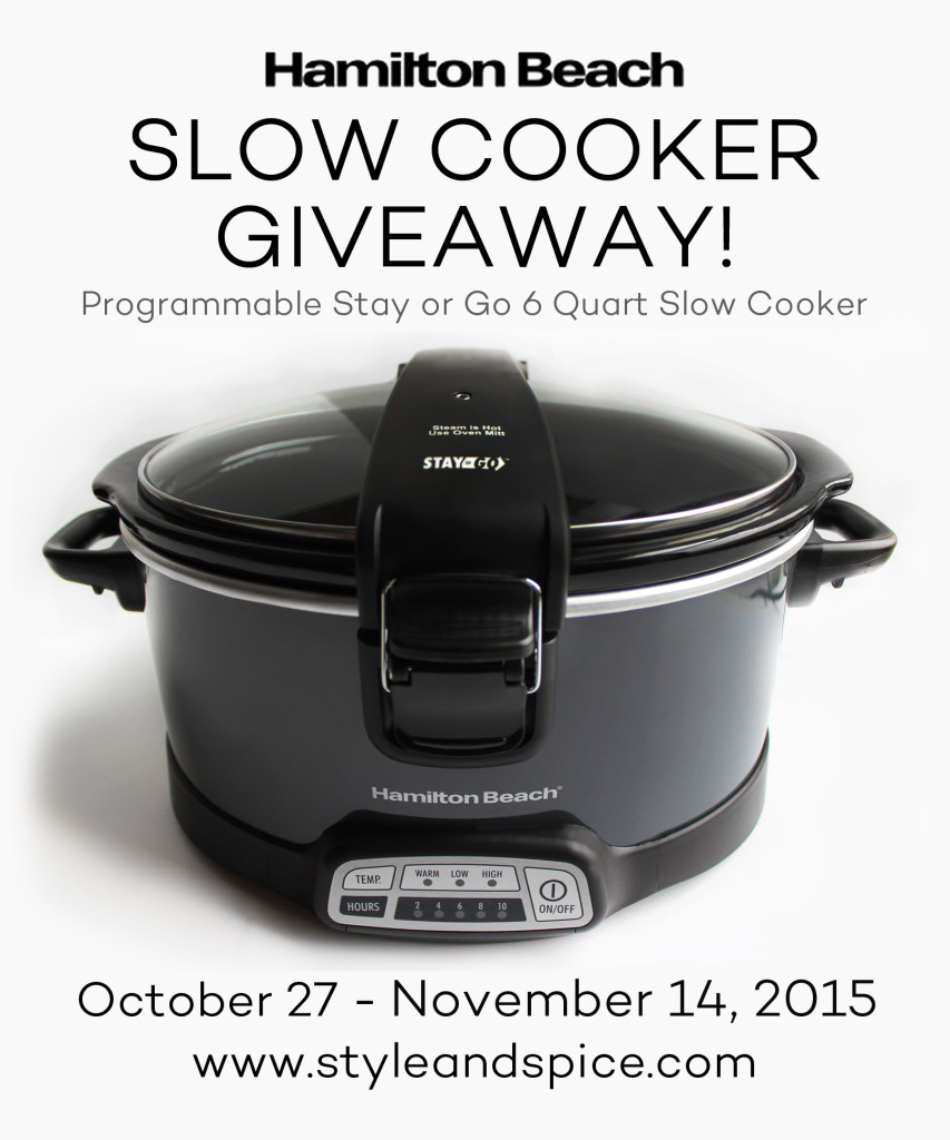 Win a Hamilton Beach slow cooker by visiting Style & Spice!