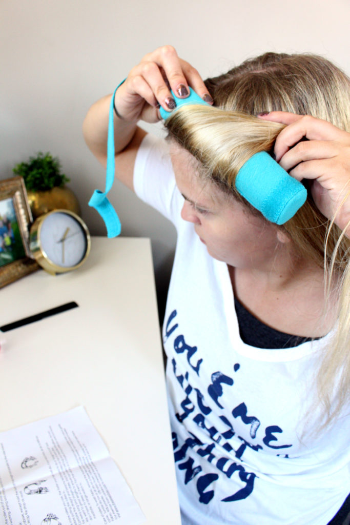 Rolling hair in The Sleep Styler